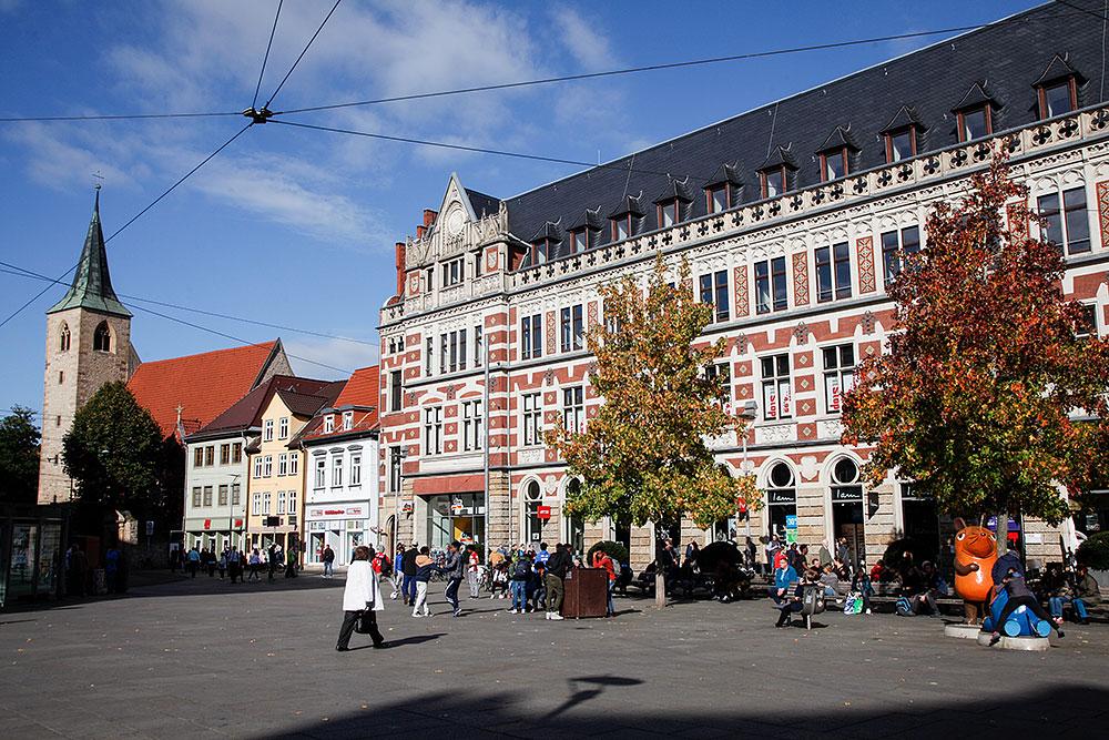 Blick auf eine Fassade in der Erfurter Innenstadt · © Andreas Lahn