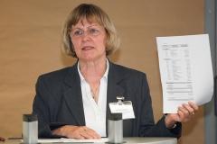 Schatzmeisterin Gabriele Baumgarten-Heinke erläutert die finanzielle Situation des Vereins · © Andreas Lahn
