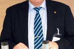 Josef Wolters spricht über die Aktivitäten des LV Nordrhein-Westfalen und der Stadt-Sektion Essen · © Andreas Lahn