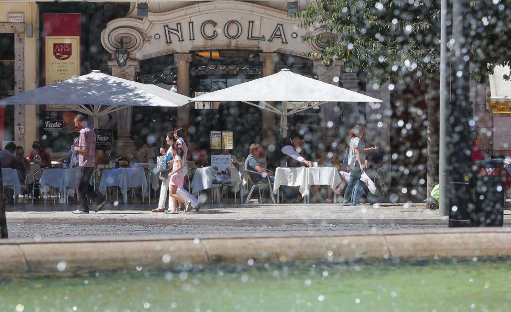 Foto vom berühmten Lissaboner Café Nicola