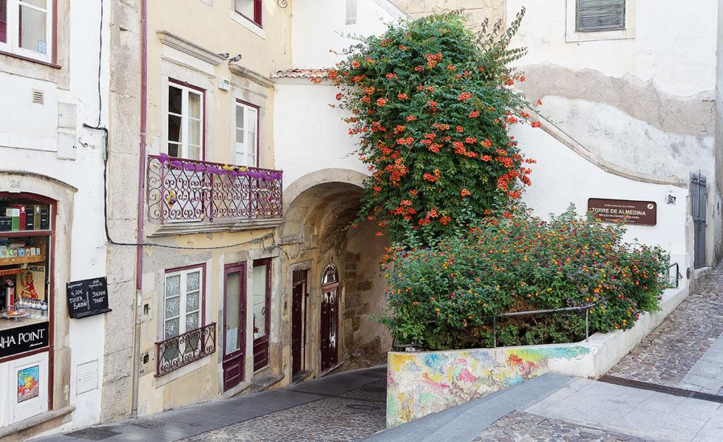 Foto aus der Altstadt in Coimbra (Portugal)