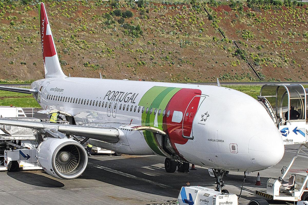 Foto eines Flugzeuges von TAP Portugal