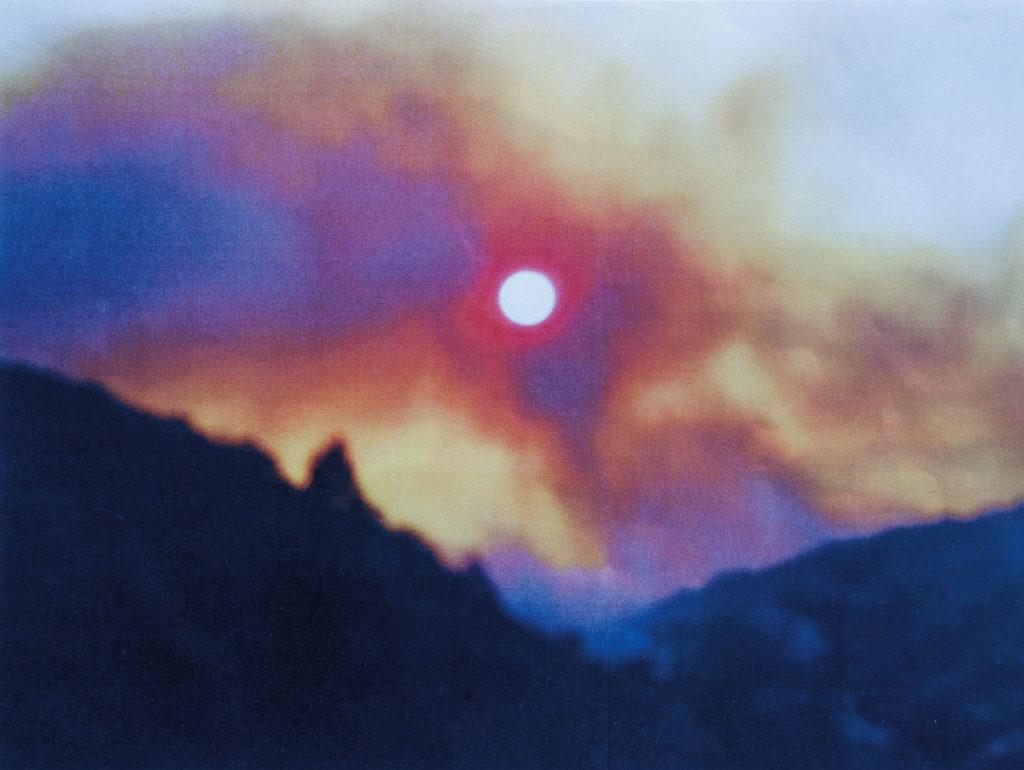 Foto einer Feuersbrunst im Norden Portugals