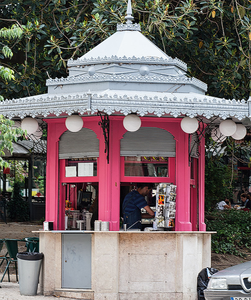 Foto vom Kiosk am Prinçípe Real in Lisboa