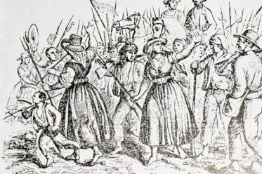 Bild vom Aufstand in Póvoa de Lanhoso (1846)
