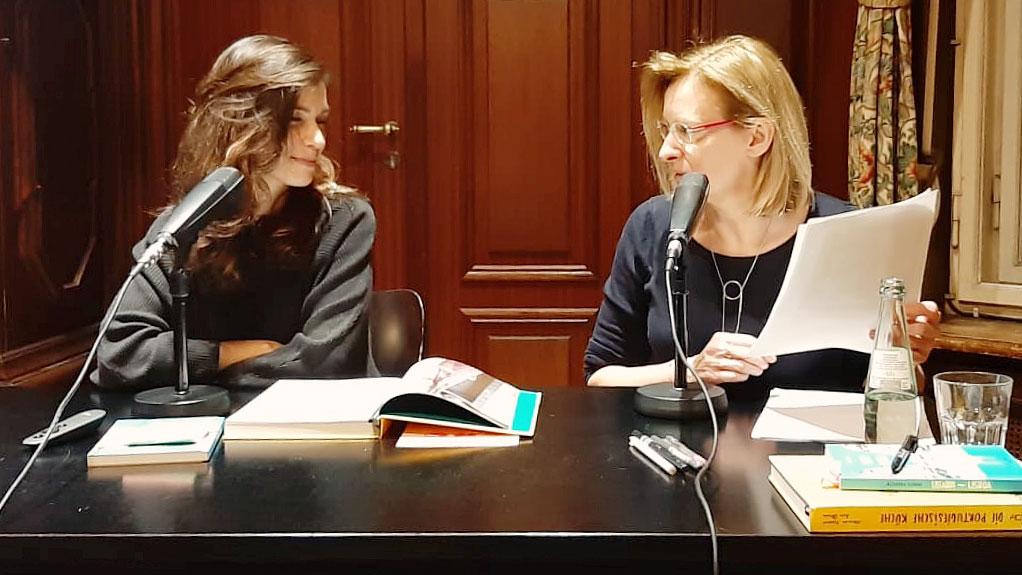 Alexandra Klobouk und Ruth Tobias am 21.2.2019 im Berliner Literatur-Haus