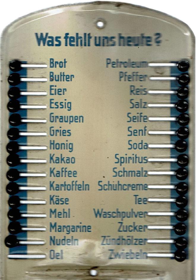 Foto einer Einkaufsliste
