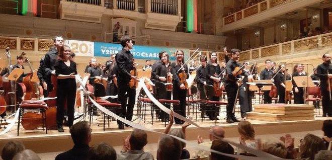 Foto des portugiesischen Orchesters bei den Young Euro Classic 2019