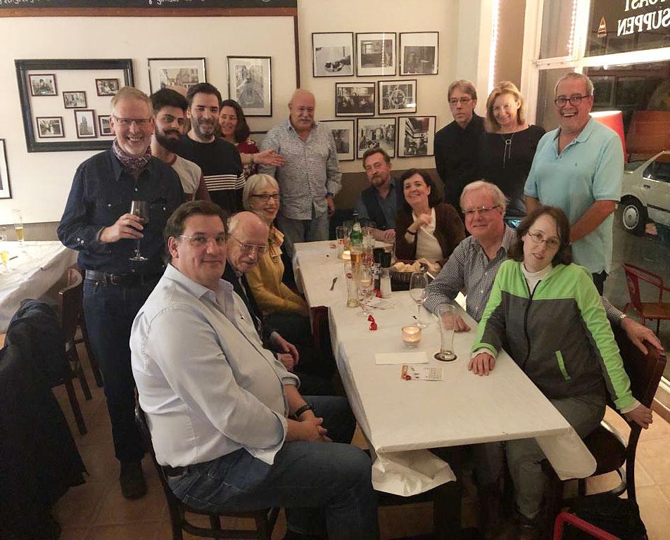 Foto vom Stammtisch der DPG Berlin/Brandenburg am 26.9.2019 im Café Lisboa in Berlin