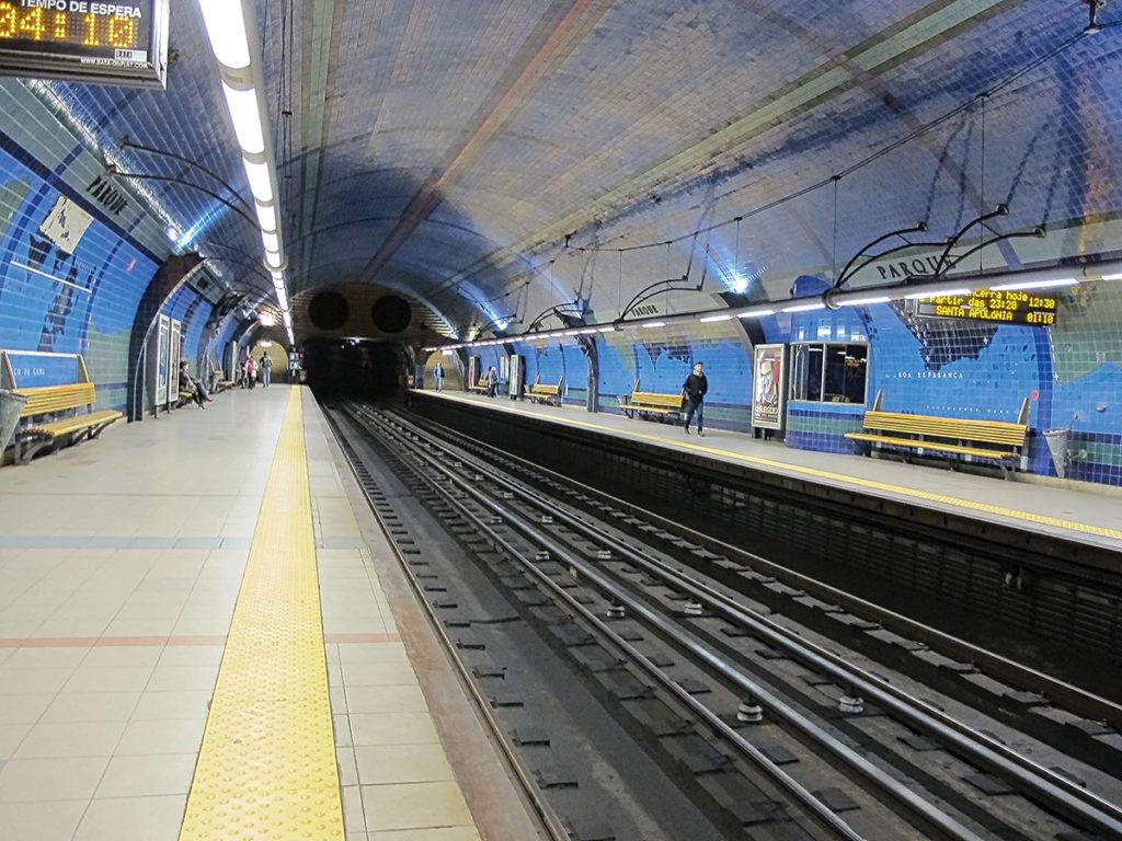 Foto der Metro-Station Parque (Lissabon)