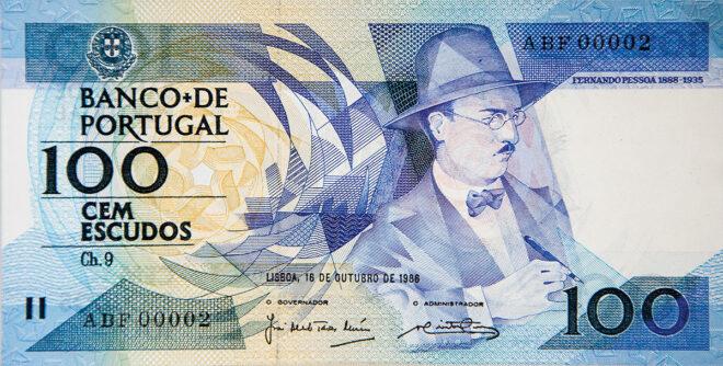 100 Escudo Schein aus Portugal