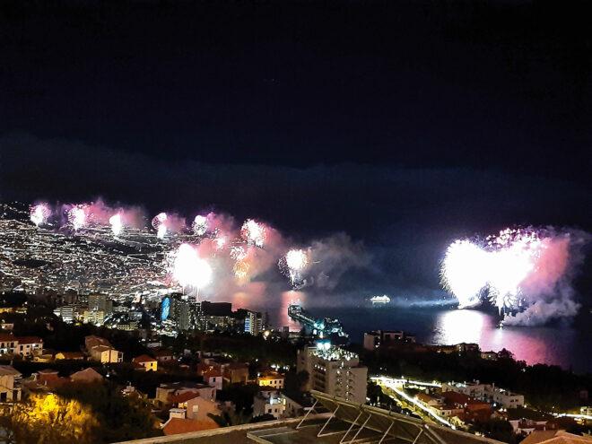 Foto vom Neujahrsfeuerwerk in Funchal (Madeira) 2020/2021