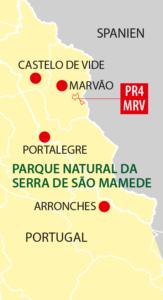 Schmugglerpfad in der Serra de São Mamede (Illustration)