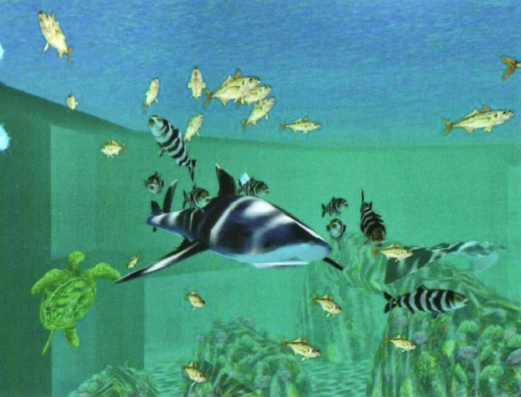 Virtuelles Aquarium bei der EXPO 1998 in Lissabon