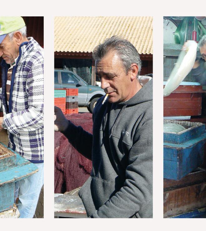 Foto einiger Fischer von Alvor am Algarve (Portugal)